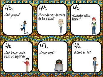 Spanish Present Tense Verbs Task Cards Bundle
