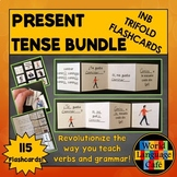 Spanish Present Tense Verbs Flashcards, Interactive Notebo