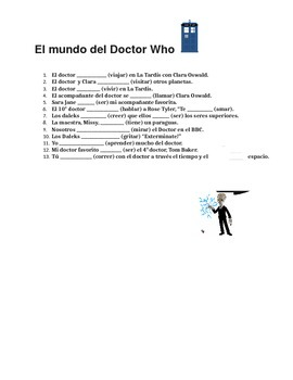 Spanish Present Tense Verbs with Doctor Who