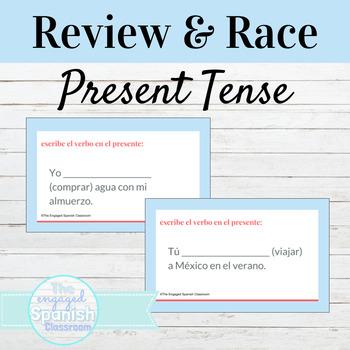 Spanish Present Tense Word Race Activity / El Presente Indicativo