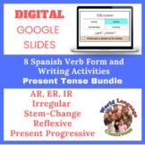 Spanish Present Tense Writing Activities Bundle (Google Sl