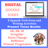Spanish Present Tense Writing Activities Bundle (Google Sl