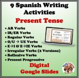 Spanish Present Tense Writing Activities Bundle (Digital, Google)