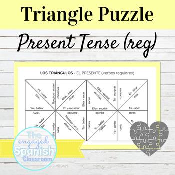 Spanish Present Tense (el presente) Conjugation Puzzle: Regular verbs