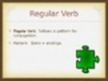 Spanish Present Tense of -AR Verbs PowerPoint Slideshow Presentation