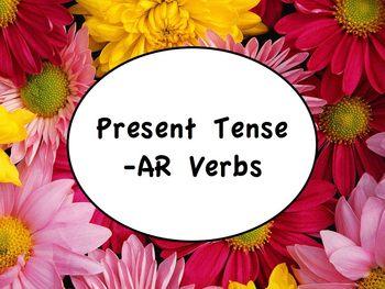 Spanish Present Tense of -AR Verbs PowerPoint Slideshow Pr