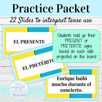 Spanish Present or Preterite Reading Activity