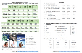 Español: Presente de verbos irregulares (Spanish: Present with irregular verbs)