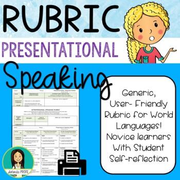 Spanish Presentational Speaking Rubric