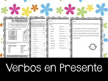 Spanish - Tiempo Presente. Present tense