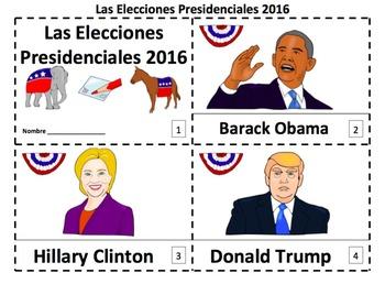 Spanish U.S. Presidential Election 2 Emergent Reader Booklets - Las Elecciones