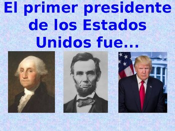 Spanish President's Day PowerPoint (Día de los presidentes)
