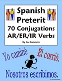 Spanish Preterit 70 AR/ER/IR Regular Verb Conjugations Worksheet