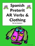 Spanish Preterit -AR Verbs and Clothing Sentences Worksheet - La Ropa