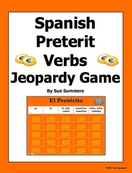 Spanish Preterit Irregular Verbs Jeopardy Game - Spanish Games