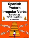Spanish Preterit Irregular Verbs Pair Work Las Escaleras Activity and Quiz