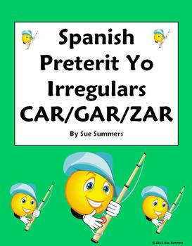 Spanish Preterit Irregular Yo Verbs Sentence Translations