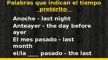Spanish Preterit Presentation for Notes