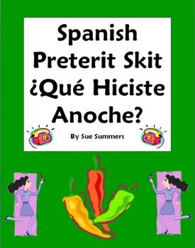 Spanish Preterit Skit / Role Play - ¿Qué hiciste anoche? - Oral Practice