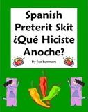 Spanish Preterit Skit / Role Play - ¿Qué hiciste anoche? -
