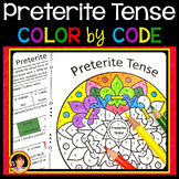 Spanish Preterit Tense Verbs   Spanish Color by Number