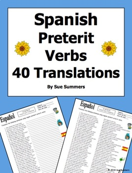 Spanish Preterit Verbs 40 Translations - El Pretérito