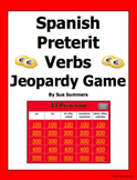 Spanish Preterit Verbs Jeopardy Game - Spanish Games