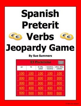 Spanish Preterit Verbs Jeopardy Game - Spanish Games