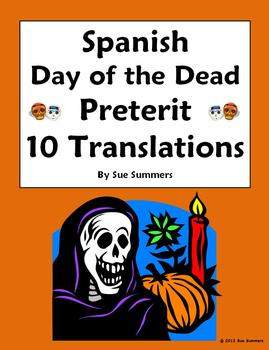 Spanish Preterit Verbs and Day of the Dead Sentence Translations