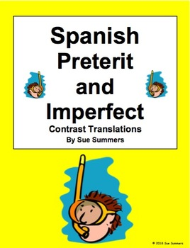 Spanish Preterit and Imperfect 12 Sentences Contrast Translations
