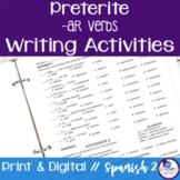 Spanish Preterite -AR Verbs Writing Exercises