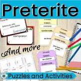 Spanish Preterite Activities 4 Sets of Cards