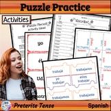Spanish Preterite Activities Puzzles