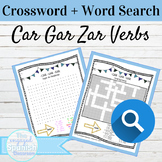 Spanish Preterite CAR GAR ZAR Word Search and Crossword With Answer Keys