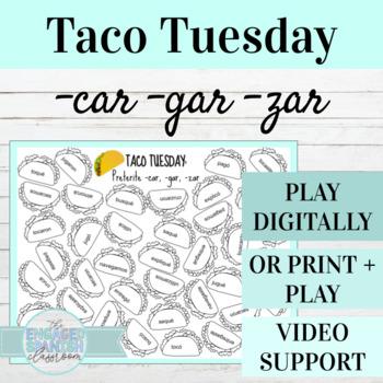 Spanish Preterite CAR GAR ZAR Taco Tuesday Game