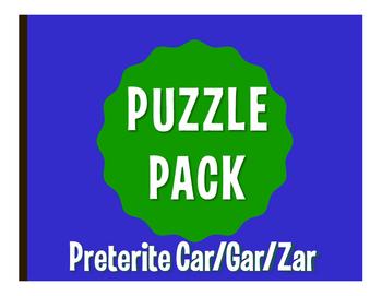 Spanish Preterite Car Gar Zar Puzzle Pack