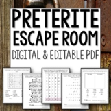Spanish Preterite Conjugation Break Out Escape Room Lesson Activity