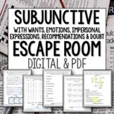 Spanish Subjunctive WEIRDO Break Out Escape Room Lesson Activity