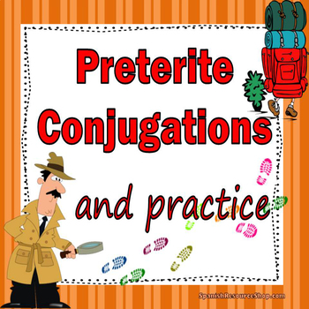 Spanish Preterite Conjugations Notes and Practice Powerpoint BUNDLE