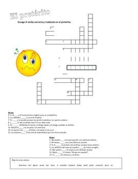 Spanish Preterite Crossword / Crucigrama del pretérito