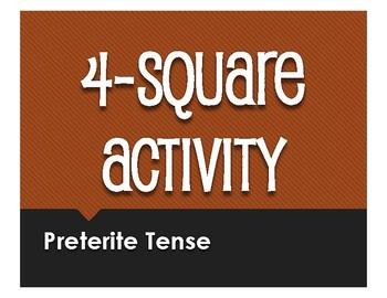 Spanish Preterite Four Square Activity