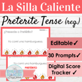 Editable Spanish Preterite Tense Regular Verbs Hot Seat Game