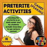 Spanish Preterite Games, Speaking, Writing Activities to E