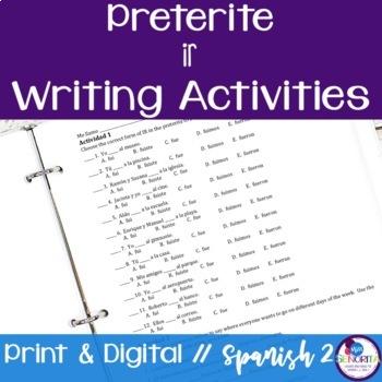 Spanish Preterite Ir Writing Exercises