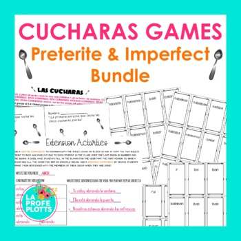 Spanish Preterite & Imperfect ¡Cucharas! Games BUNDLE