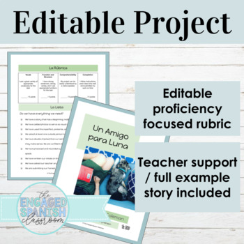 Spanish Preterite Imperfect EDITABLE Storybook Project
