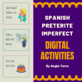 Spanish Preterite Imperfect Google Drive Activities Distance Learning