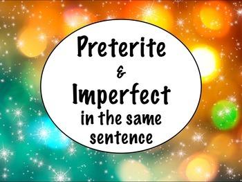 Spanish Preterite & Imperfect in the Same Sentence BUNDLE- Slideshow, worksheets