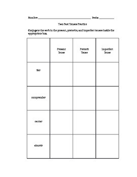 Spanish Preterite & Imperfect in the Same Sentence Practice Worksheets Set