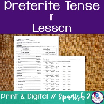 Spanish Preterite Ir Lesson {Distance Learning}